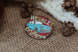 Weasley's Car Repair Enamel Pin; Clutch back fastener