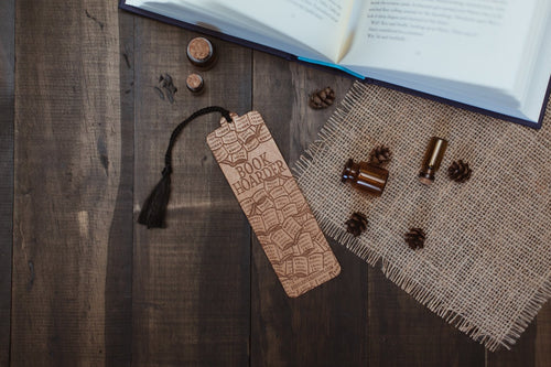 Book Hoarder Wooden Bookmark