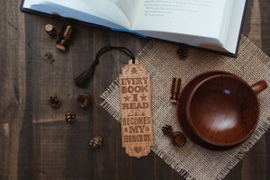 Every Horcrux Wooden Bookmark