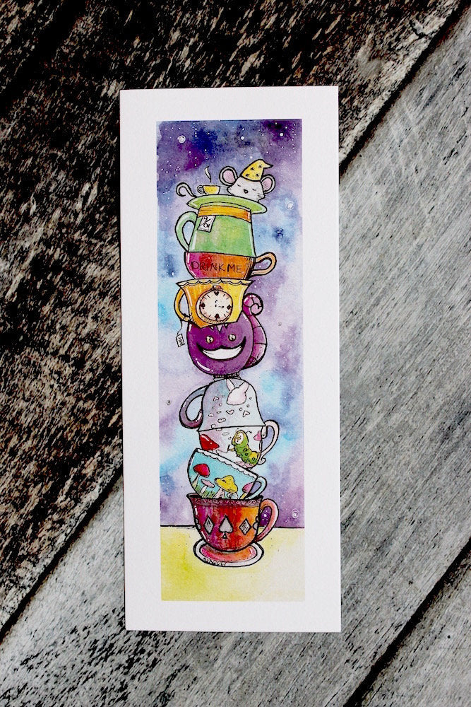 Alice in Wonderland Tea Cups Print