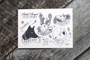 Marauder Tattoo Flash Print