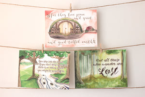 Tolkien-inspired Quote Card Print Set