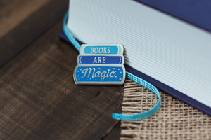 Book are Magic Enamel Pin; Clutch back fastener