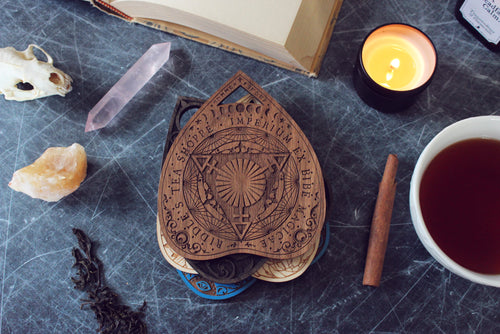 Wooden Planchette Coaster - Classic Design in Walnut