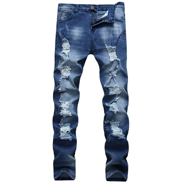 Men's Rugged Distressed Jeans