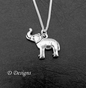 Silver elephant pendant necklace spudmeister jewellery silver elephant pendant necklace mozeypictures Image collections