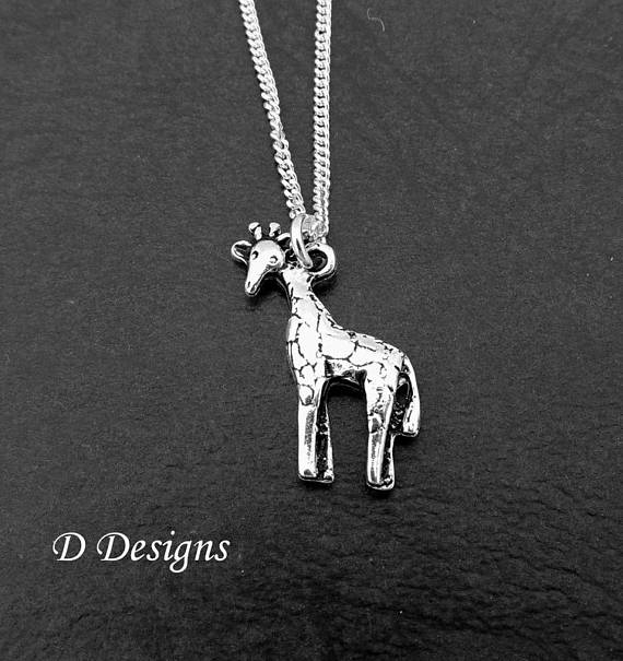 Silver giraffe pendant necklace spudmeister jewellery silver giraffe pendant necklace aloadofball Choice Image
