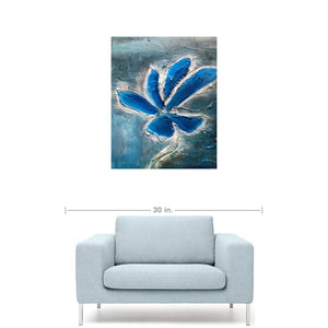 """True blue bloom""- Fine Art Print"