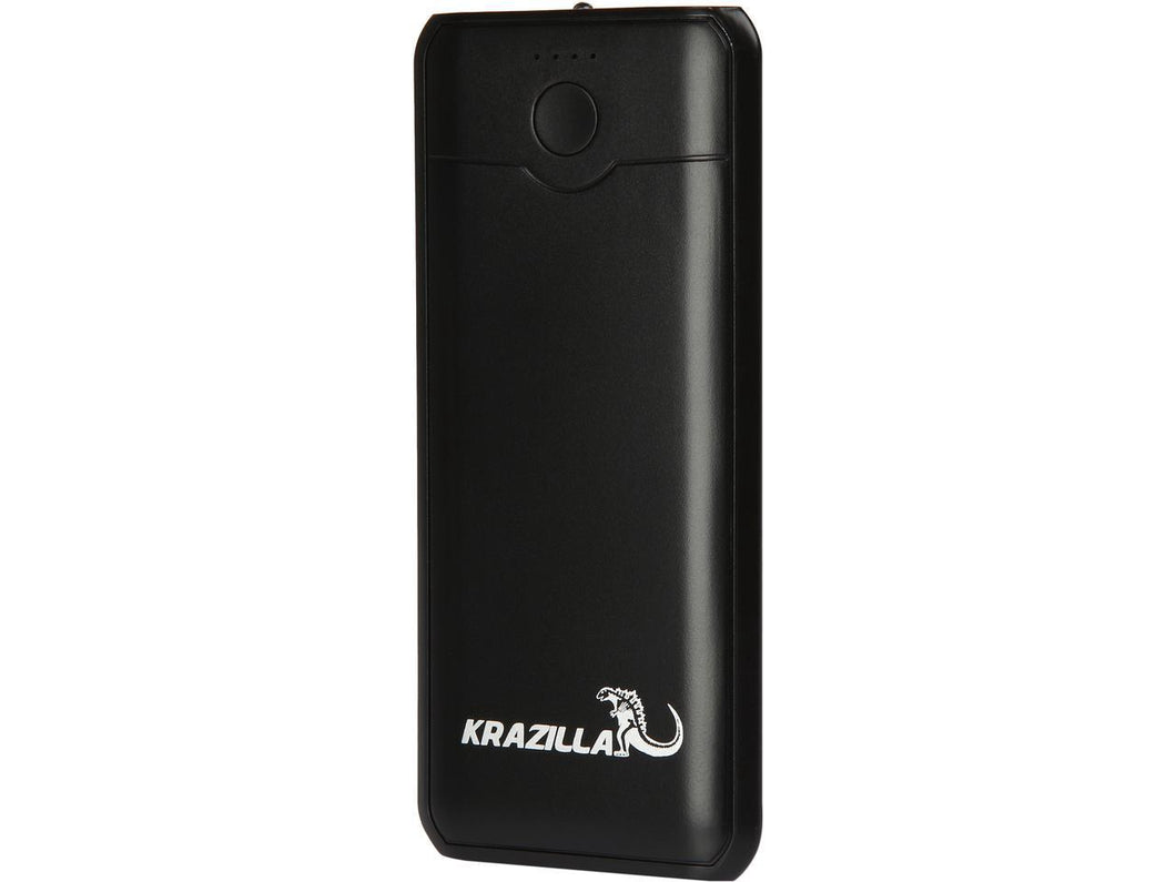 Krazilla 3600 mAh Fast Charge LED Light Power Bank, LED Flash Light