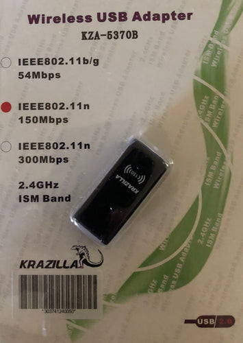 Krazilla KZA-5370B Wireless USB WiFi Adapter
