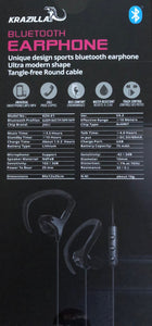 Krazilla KZH-E1 Unique Design Bluetooth Earphone for iphone and android