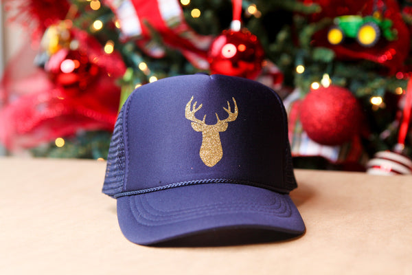 Women's/Youth Trucker Hat with classic Gold Deer