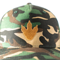 Toddler/Child/Youth Embroidered Camo Trucker Hat with Dino Print