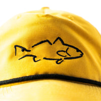 Fish trucker hat, men's fit with embroidered redfish