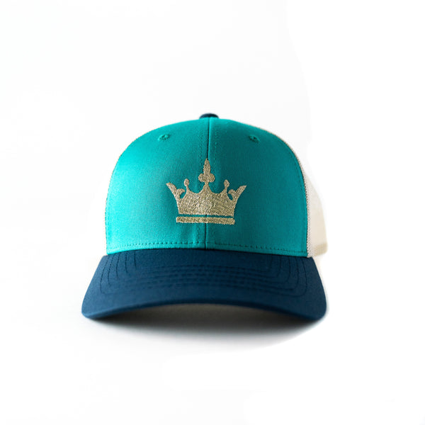 Gold Crown Hat. Trucker Style hat for youth/kids/toddlers