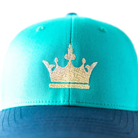 Gold Crown Hat. Trucker Style hat for youth/kids/toddlers.  The best way to wear a crown and shade your face.