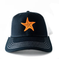 Toddler/Youth/Child's Trucker hat with Embroidered Starfish