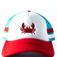 Women's Trucker hat with Embroidered Crab