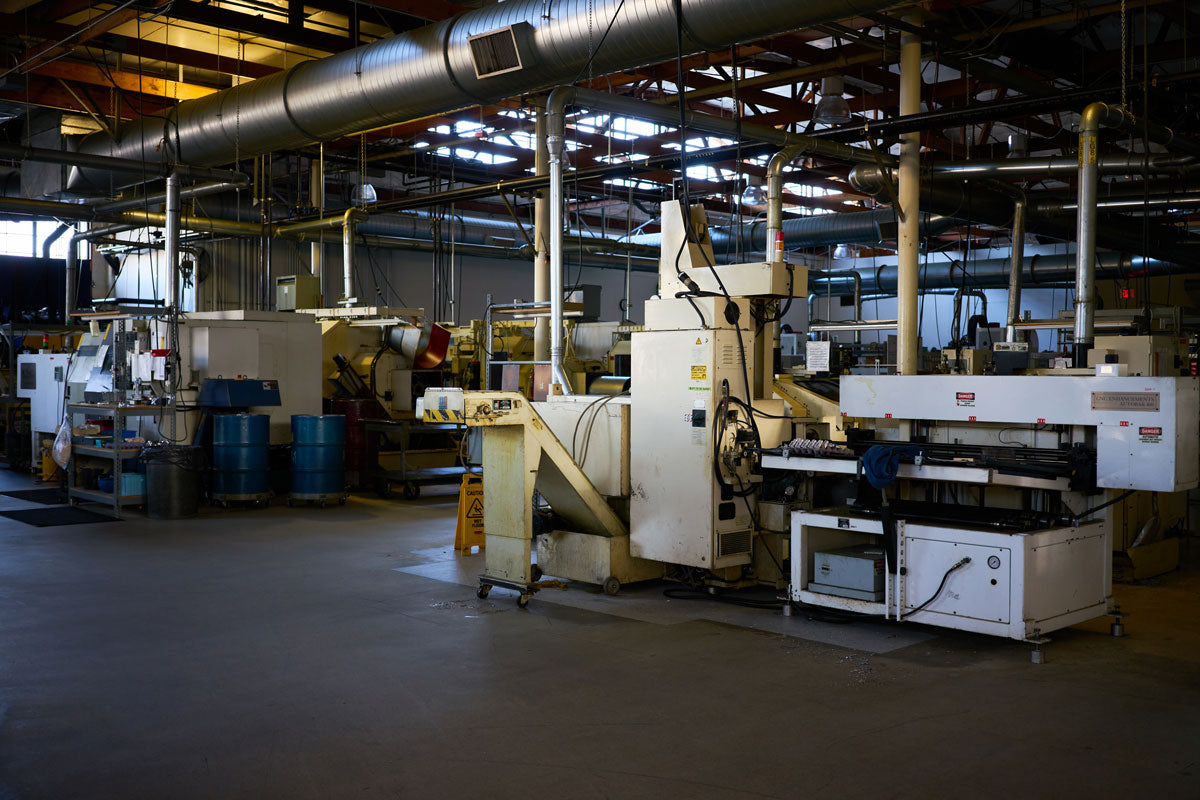 Image of CNC machines on the Chris King shop floor