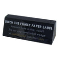 Custom Engraved Acrylic Information Label Wedges