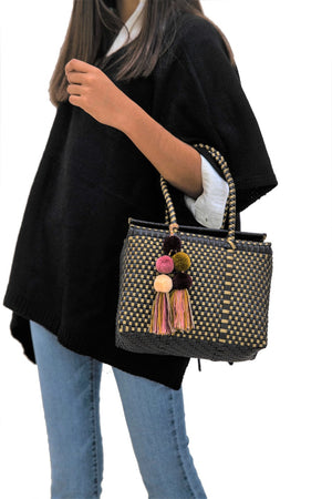 Load image into Gallery viewer, Bombon Tote Mini Black / Gold