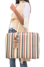 Bombon Tote Red Striped Multi
