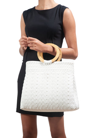 Load image into Gallery viewer, Madera Tote White