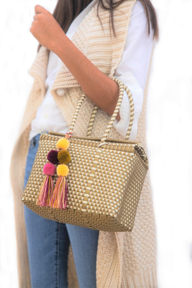 Bombon Tote Mini Gold / Bone