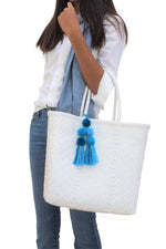 Medium Open Tote White