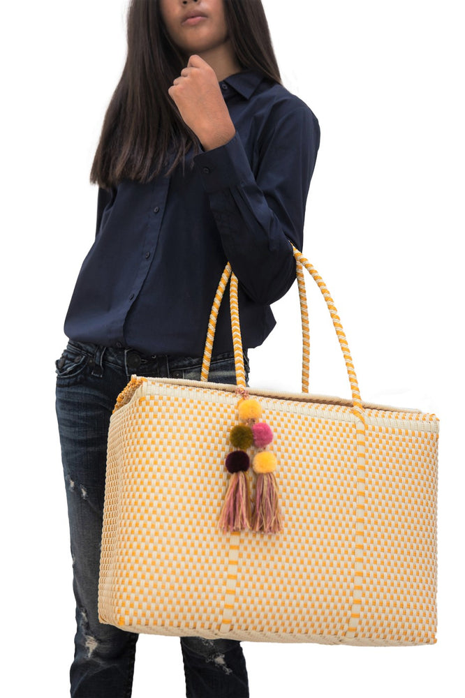 Load image into Gallery viewer, Bombon Tote Bone / Mustard