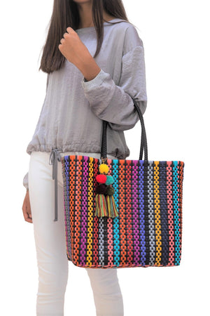 Medium Open Tote Colorina Black