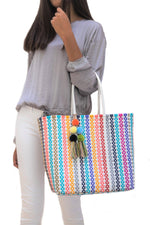 Medium Open Tote Colorina White