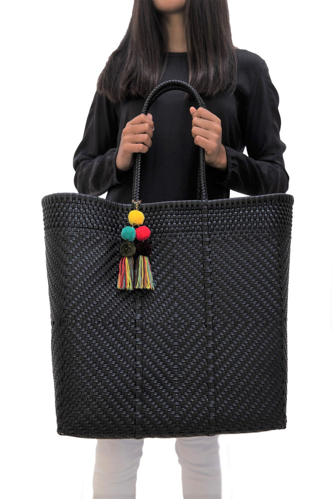 Large Open Tote Black