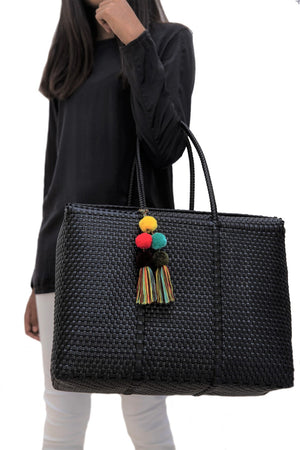 Load image into Gallery viewer, Bombon Tote Black