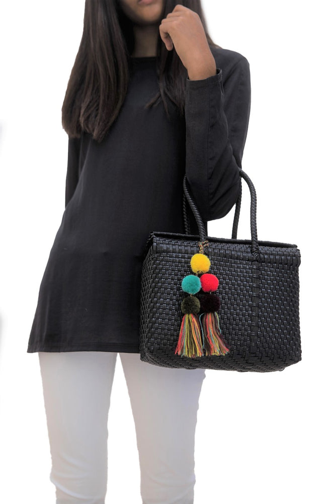 Load image into Gallery viewer, Bombon Tote Mini Black