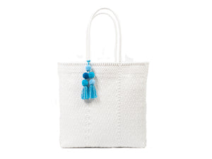 Large Open Tote White
