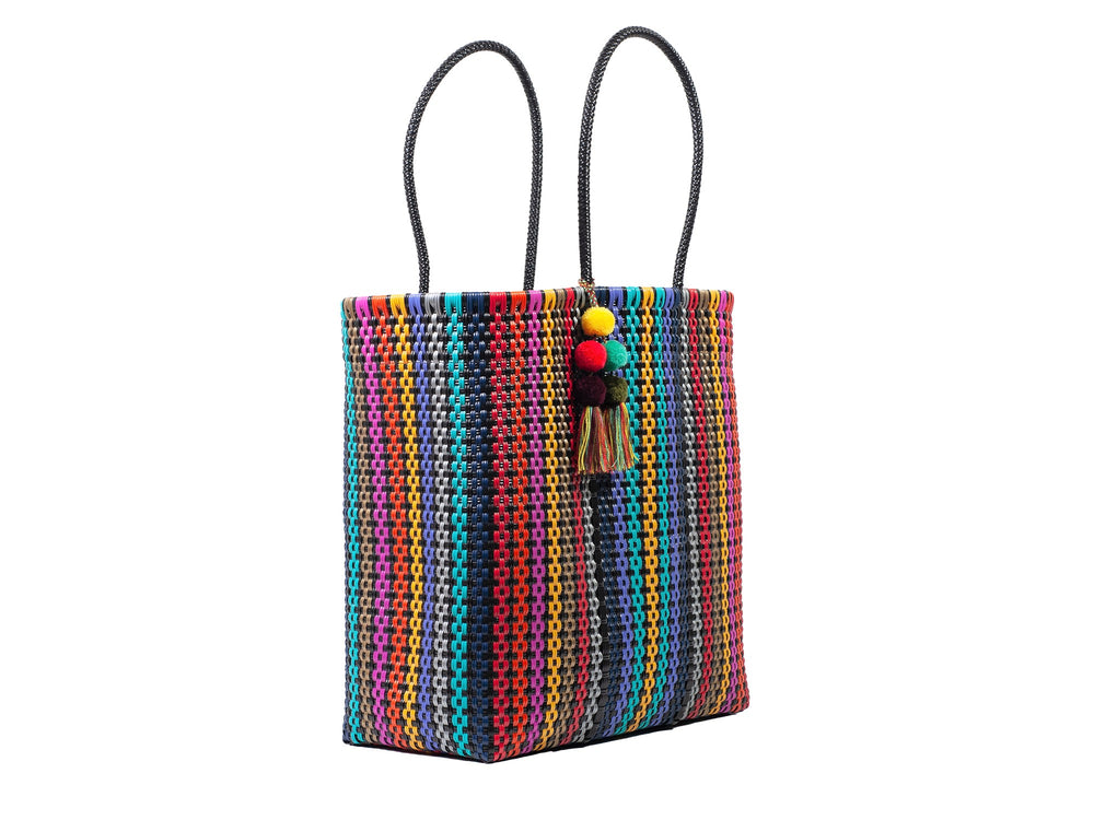 Large Open Tote Colorina Black