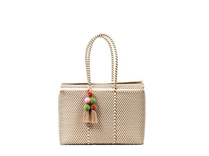 Load image into Gallery viewer, Bombon Tote Bone / Gold