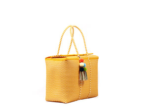 Load image into Gallery viewer, Bombon Tote Mustard / Bone