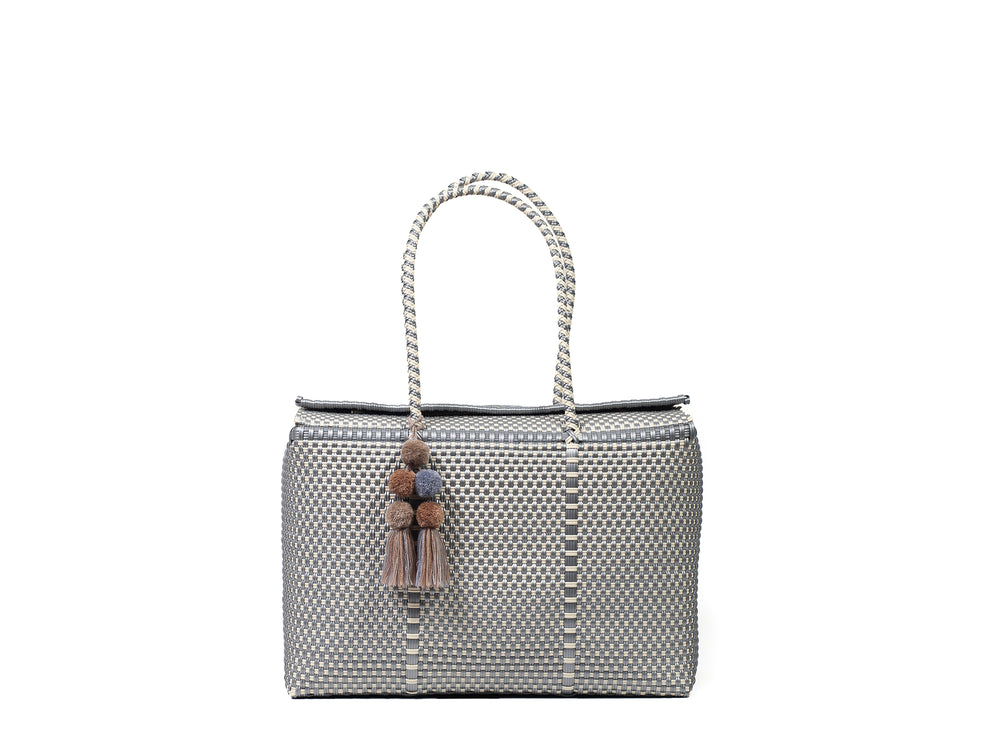 Load image into Gallery viewer, Bombon Tote Silver / Bone