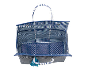 Load image into Gallery viewer, Bombon Tote Navy / White