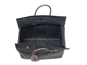 Load image into Gallery viewer, Bombon Tote Black / Silver