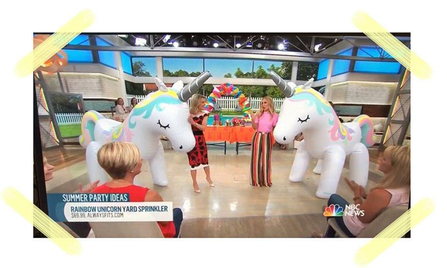 The Unicorns Are Taking Over: Always Fits on the Today Show!