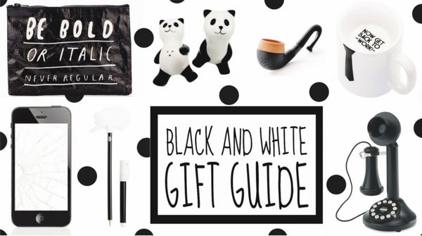 Black And White Holiday Gift Guide