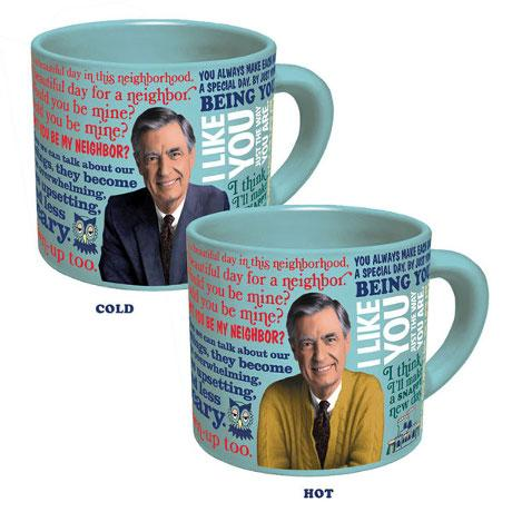 Mister Rogers Color Changing Sweater Coffee Mug - Unemployed Philosophers Guild - AlwaysFits.com