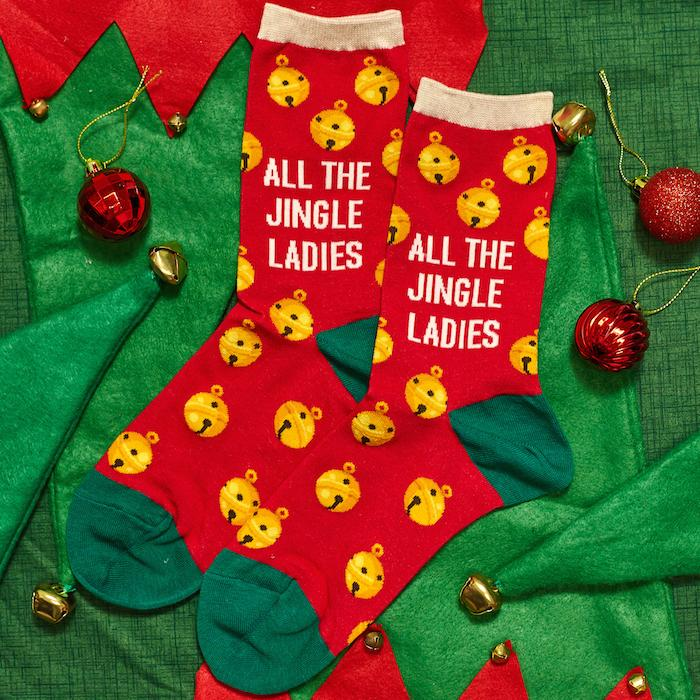 All the Jingle Ladies Women's Crew Socks
