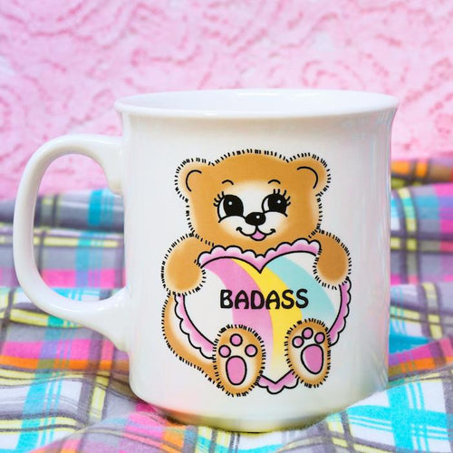Badass Bear Porcelain Coffee Mug - Fred & Friends - AlwaysFits.com