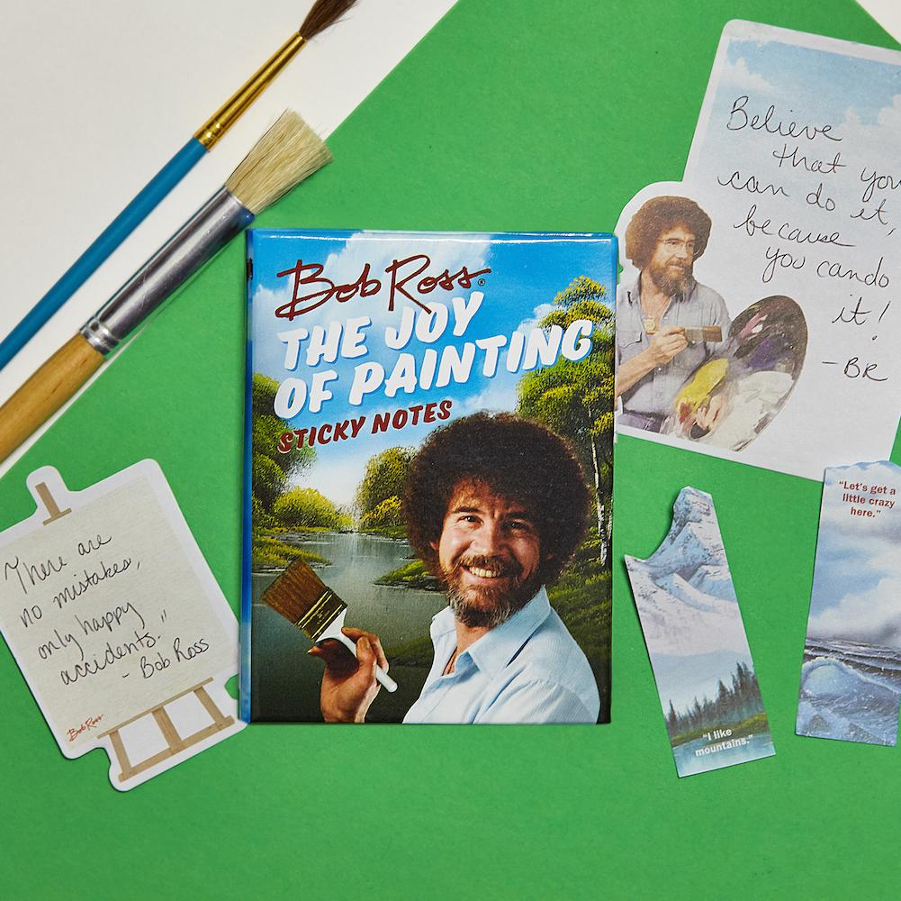 Bob Ross The Joy of Painting Sticky Note Booklet - Unemployed Philosophers Guild - AlwaysFits.com