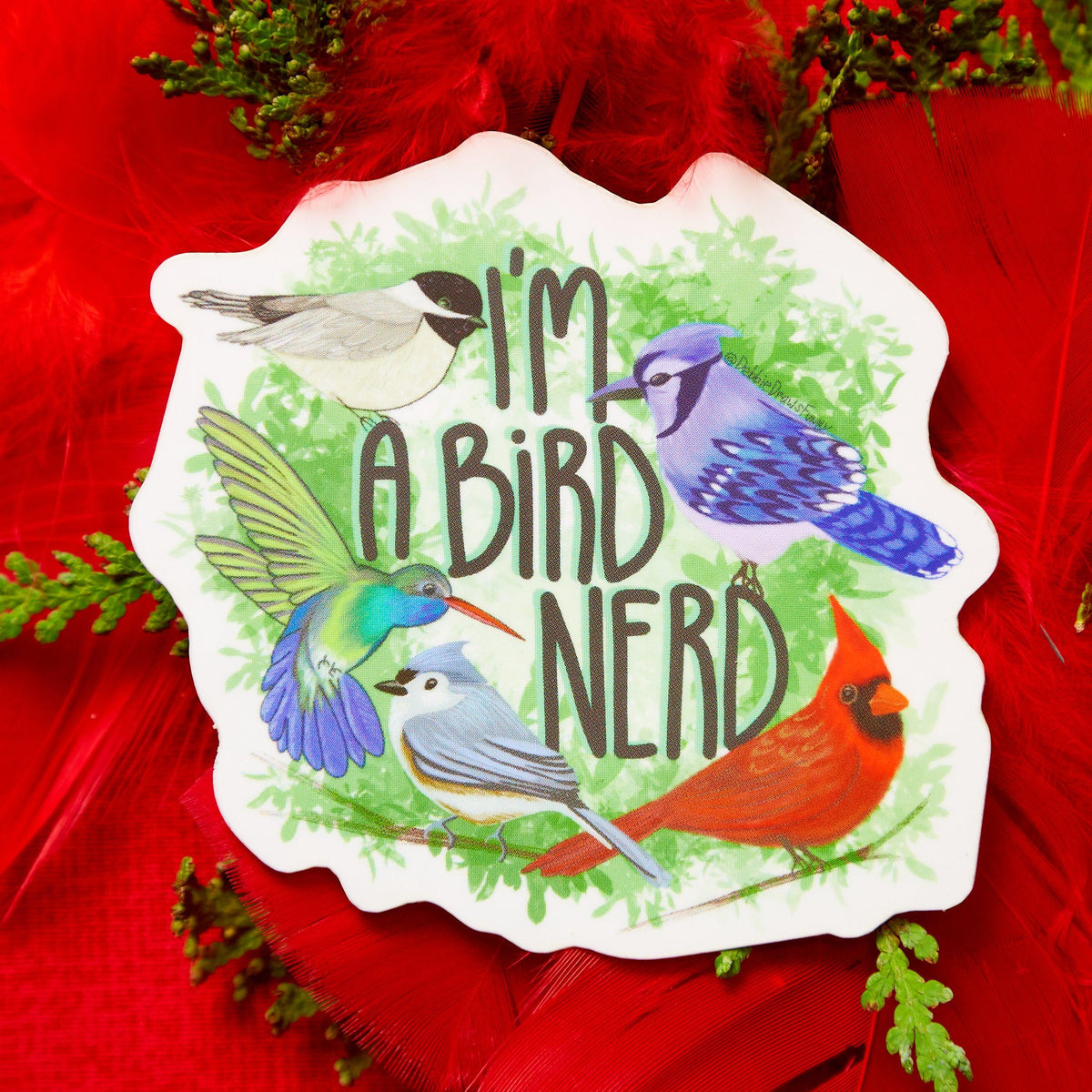 I'm a Bird Nerd Vinyl Sticker