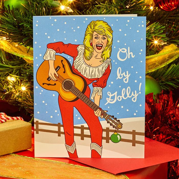Have a Holly Dolly Christmas Card